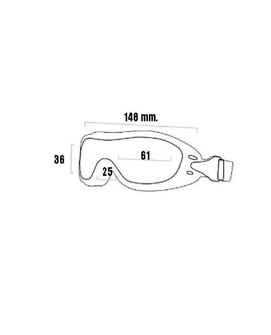 dimensioni degli occhiali